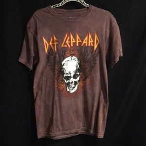 Tops - Def Leppard Concert Graphic T-Shirt S Small